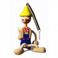 Pinocchio mit Frühlingsblau