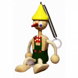 Pinocchio mit Frühlingsgrün