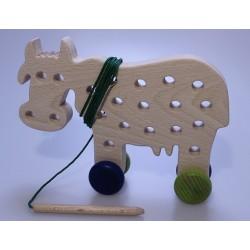 Kuh zum Fädeln