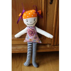 Fabric doll violet