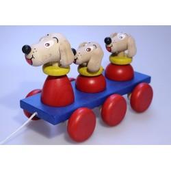 3 Hunde zum Ziehen