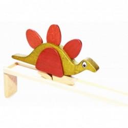 Stegosaurus auf der Bahn