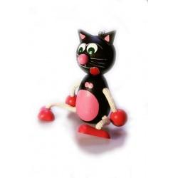 Schwarze Katze mit Feder